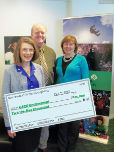 Rae Ann and Richard Dougherty gave a lead gift of $25,000 to start the Look Wider International Travel Fund.